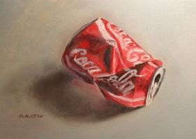 Crushed Coke Can by birchley