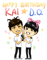 EXO: Kaisoo Birthday by yukyura