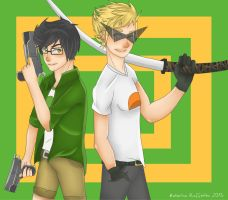 Dirk Strider and Jake English by SatiricalKat