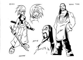 Kung Fu Mousse Characters 2 by NachoMon