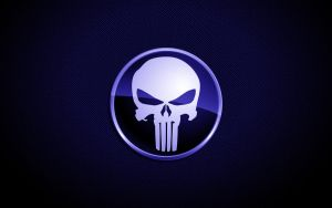 Blue Punisher Skull by SleekDesigns2010