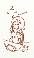 the Tired Artist by TinySauce