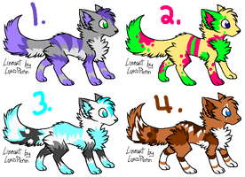 Adoptable Wolves by starsleeps