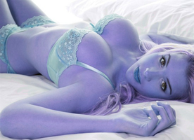 Blueberry lingerie by 32690taylor