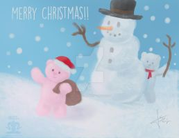 Snowball bears-Merry Chirstmas!! by SEL-artworks