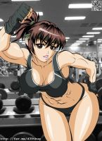 Akiko Daimon Gym Workout by elee0228