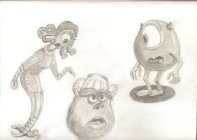 Monsters Inc. Characters by Dragonfoxx70