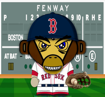 Red Sox Monkey by bostonguy3737