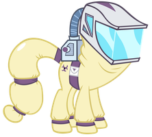 hazard suit pony by sofunnyguy