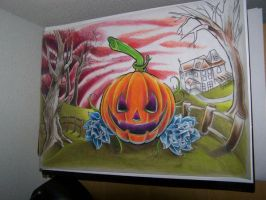 unfinished pumpkin painting by WillemXSM