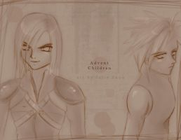Advent Children by joulee