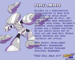 NailMan Data Card by MegaPhilX