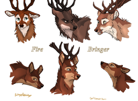 Fire Bringer Deer colored by Tuco