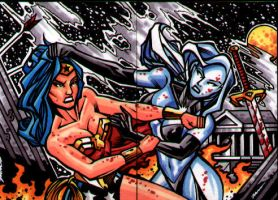 Wonder Woman vs Lady Death by bukshot