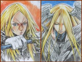 Claymore Miria And Miata Colored Pencils by Nick-Ian