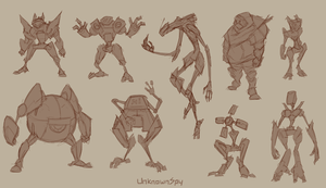 Quick Robot Sketches by UnknownSpy