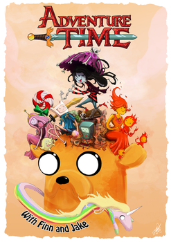 Adventure Time with Finn and Jake by JohnDevlin
