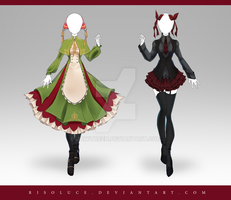 (CLOSED) Adoptable Outfit Auction 220 - 221 by JawitReen