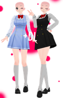 (60 Watchers Gift!) [MMD] Uniform Base (+DL) by 10JmixP