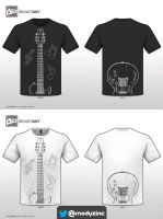 Guitar T-shirt by ModyZinc