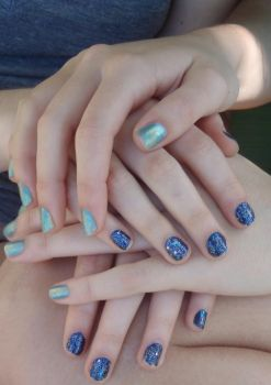 Blue Nail Polish by WickedPotter84