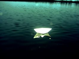 journey of the paper boat by Lezah