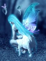.:Blue Fairy:. by AnneFlanders