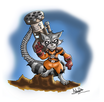 Rocket Raccoon by ZurEnArhh