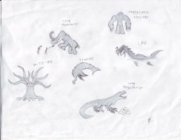 Cryptid Sketches 3 by Dragonsmana