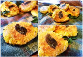 Fried Polenta Cakes by starrys
