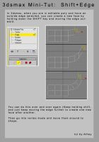 3dsmax mini-tut  Shift Edge by Athey
