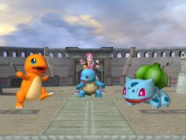 The Kanto Starters by Pfaccioxx