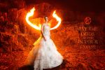 Katniss Everdeen Wedding dress cosplay by onkami