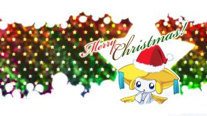 Christmas Jirachi Wallpaper by Hellknight10