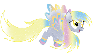Galaxy Rainbow Power Derpy Hooves by DigiTeku