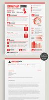 Resume / CV + Cover Letter Set 01 by dokk123