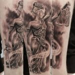 Lady Justice tattoo by tuomaskoivurinne