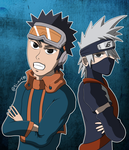 Kakashi and Obito by aj-art89