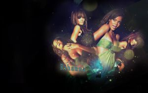 Rihanna - wallpaper by Hannah-Vee