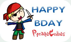 Happy Bday PirateCubes by CazGirl