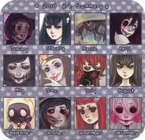 2014 Art Summary by DrawKill