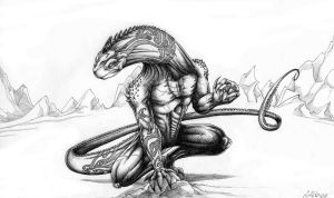 lizard man with tatoos final by earl2thaend