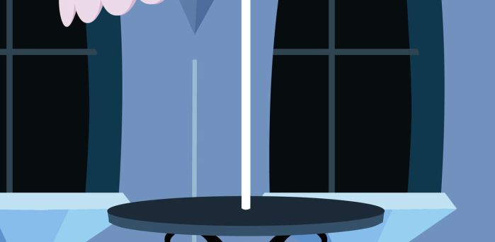 MLP Background: Crystal Empire Bistro table by grievousfan