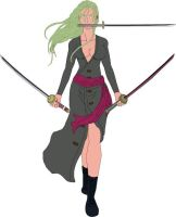 Rononoa Zoro version woman by Knight-Beast-X