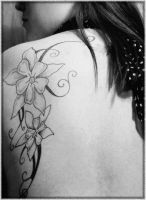 Tattoo Flower by humourme