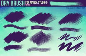 Dry Brush Pack for Manga Studio 5 (Ver. 1) by RoastedStix