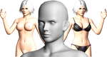 Christie DoA5 Naked versions improvised by sidneymadmax