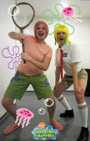 Spongebob and Patrick cosplay by Injectable