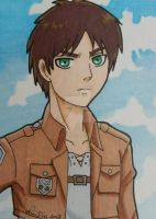 Eren ACEO card by LadyNin-Chan