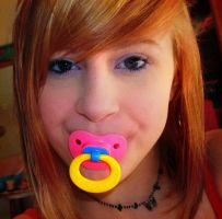Cute girl with pacifier by jaburi123